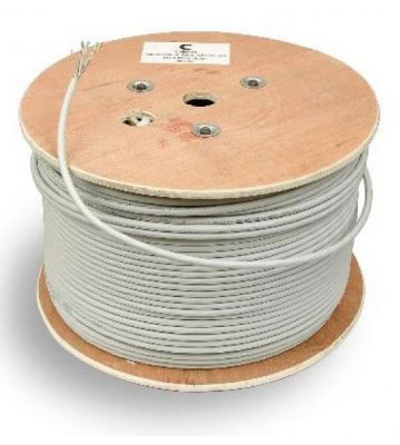 CAT 5e Belden Kabel für den Aussenbereich - 4X2XAWG 24/1 - Starrleiter - 100% Kupfer - U/UTP - 500 Meter - Schwarz