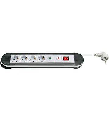 Steckdosenleiste mit Überspannungsschutz - 4x Schutzkontakt - WEiß - 1,5 Meter