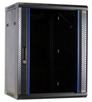 15 HE Serverschrank, Wandgehäuse, mit Glastür, nicht vormontiert (BxTxH) 600 x 450 x 770mm