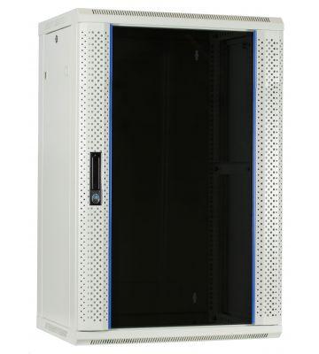 18 HE Serverschrank, Wandgehäuse, mit Glastür, Weiß, (BxTxH) 600 x 450 x 900mm