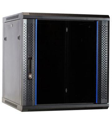 12 HE Serverschrank, Wandgehäuse mit Glastür, nicht vormontiert (BxTxH) 600 x 600 x 635mm