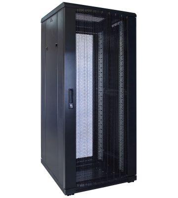 "27 HE 19"" Serverschrank, mit perforierter Fronttür (BxTxH) 600 x 600 x 1400mm"