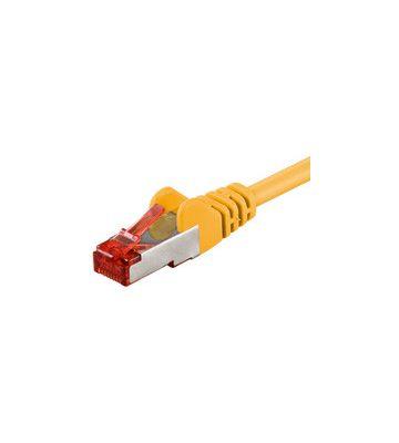 CAT 6 Netzwerkkabel LSOH - S/FTP - 0,50 Meter - Gelb