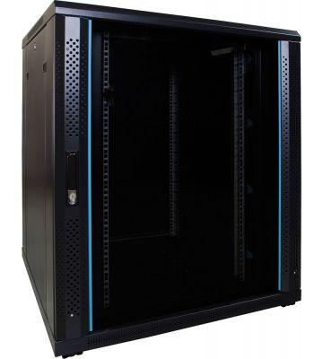 "18 HE 19"" Serverschrank, mit Glastür (BxTxH) 800 x 800 x 1000mm"