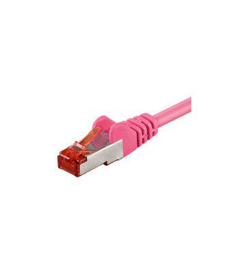 CAT 6 Netzwerkkabel LSOH - S/FTP - 1 Meter - Rosa