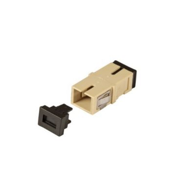 Multimode Keystone Kupplung SC-SC simplex beige
