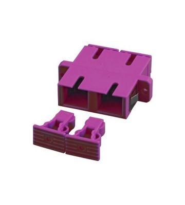 Multimode Kupplung SC-SC duplex lila