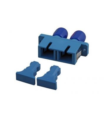 Singlemode Kupplung SC-ST duplex blau