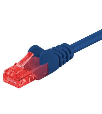 CAT 6 Netzwerkkabel U/UTP - 1 Meter - Blau - CCA