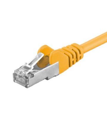 CAT 5e Netzwerkkabel F/UTP - 15 Meter - Gelb