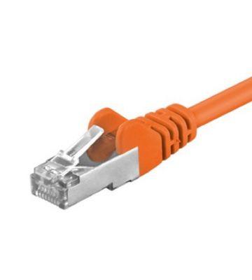 CAT 5e Netzwerkkabel F/UTP – 0,25 Meter -  Orange
