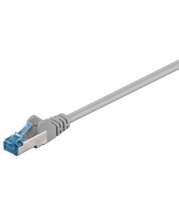 CAT 6a Netzwerkkabel LSOH - S/FTP - 0,50 Meter - Grau