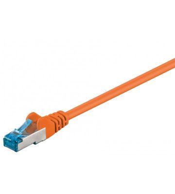 CAT 6a Netzwerkkabel LSOH - S/FTP - 10 Meter - Orange