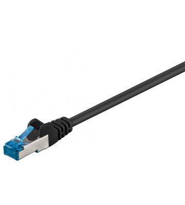 CAT 6a Netzwerkkabel LSOH - S/FTP - 0,50 Meter - Schwarz