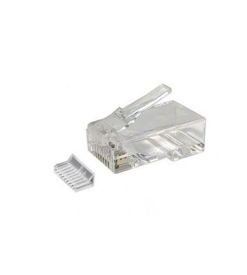 RJ45 CAT 6 Netzwerkstecker + Hilfsstück – ungeschirmt - für flexible Kabel