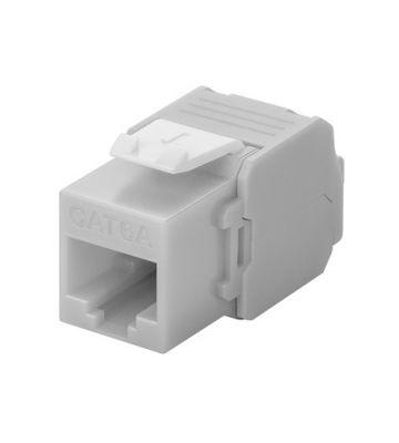 CAT6a UTP Keystone Netzwerkstecker - Toolless - Grau