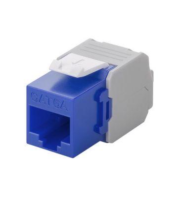CAT6a UTP Keystone Netzwerkstecker - Toolless - Blau