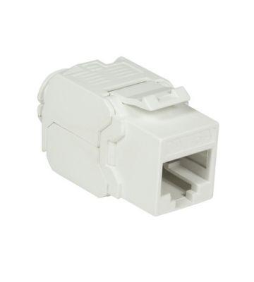 CAT6a UTP Keystone Netzwerkstecker - Toolless - Weiß