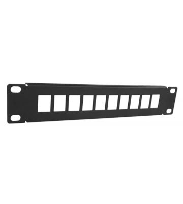 UTP Keystone-Patchpanel, 10 Ports Unbestückt