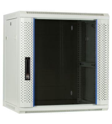12 HE Serverschrank, Wandgehäuse, mit Glastür, Weiß, (BxTxH) 600 x 450 x 634mm