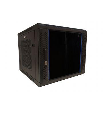 """9 HE Serverschrank, 19"""" Wandgehäuse mit Glastür und Perforierte Seitenwände (BxTxH) 600 x 600 x 501mm"""