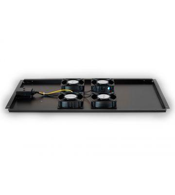 Lüftereinheit - Ventilator Paket mit 4 Ventilatoren geeignet für Serverschränke mit einer Tiefe von 1200mm.