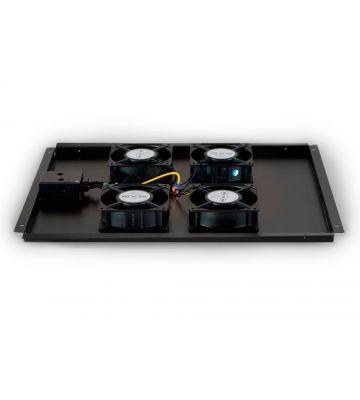 Lüftereinheit - Ventilator Paket mit 4 Ventilatoren geeignet für Serverschränke mit einer Tiefe von 800mm.