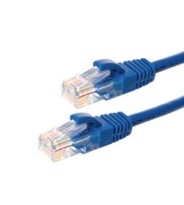 CAT5e Netzwerkkabel, U/UTP, 0,25 Meter, Blau, 100% Kupfer
