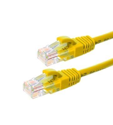 CAT6 Netzwerkkabel, U/UTP, 1 meter, Gelb, 100% Kupfer