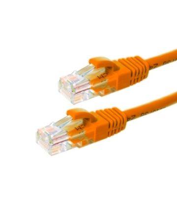 CAT6 Netzwerkkabel, U/UTP, 0,25 Meter, Orange, 100% Kupfer