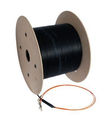 OM2 Glasfaserkabel-Maßanfertigung 12 Fasern inkl. Konnektoren
