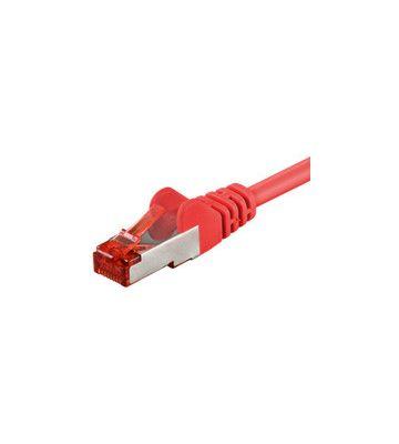 CAT 6 Netzwerkkabel LSOH - S/FTP - 1 Meter - Rot